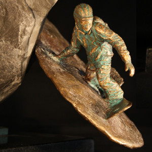 """Chute-N-Boarder"" Bronze & Natural Stone"