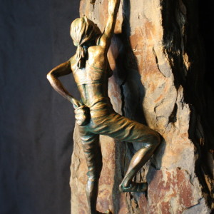 """Chalk One Up"" Bronze & Natural Stone"
