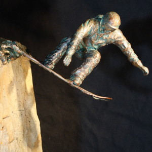 """Huckin' Boarder"" Bronze & Natural Stone"