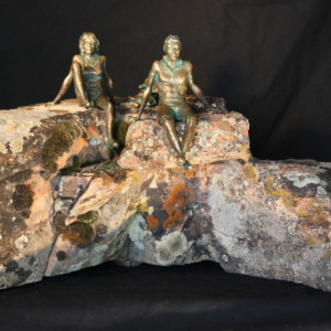 """Living On The Edge"" Bronze on Natural Stone"