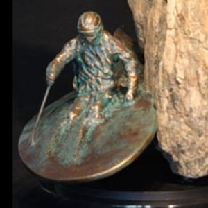"""Chute-N-Pow"" Bronze & Natural Stone"