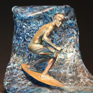 """North Shore"" - Bronze & Hand-Formed Glass"