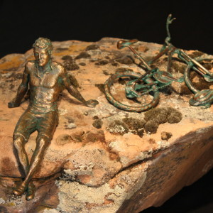 """Pay Off"" Bronze on Natural Stone"