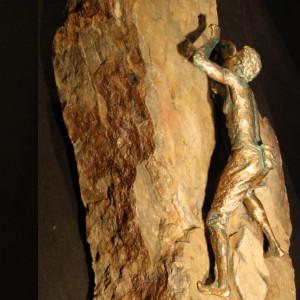 """Thin Pro Quo"" Bronze & Natural Stone"
