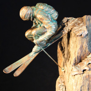 """Huckin' Forty"" Bronze & Natural Stone"